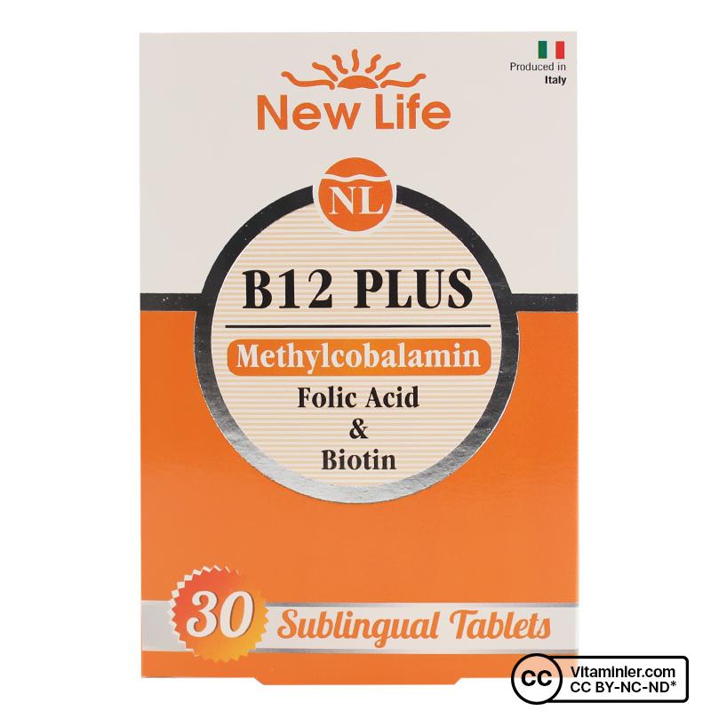 New Life B12 Plus 30 Dilaltı Tablet