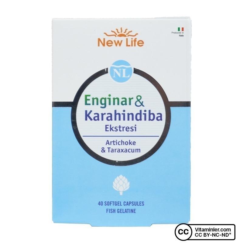 New Life Enginar & Karahindiba Ekstresi 40 Kapsül