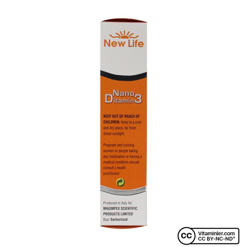 New Life Nano Ditamin3 500 IU D3 Sprey 30 mL