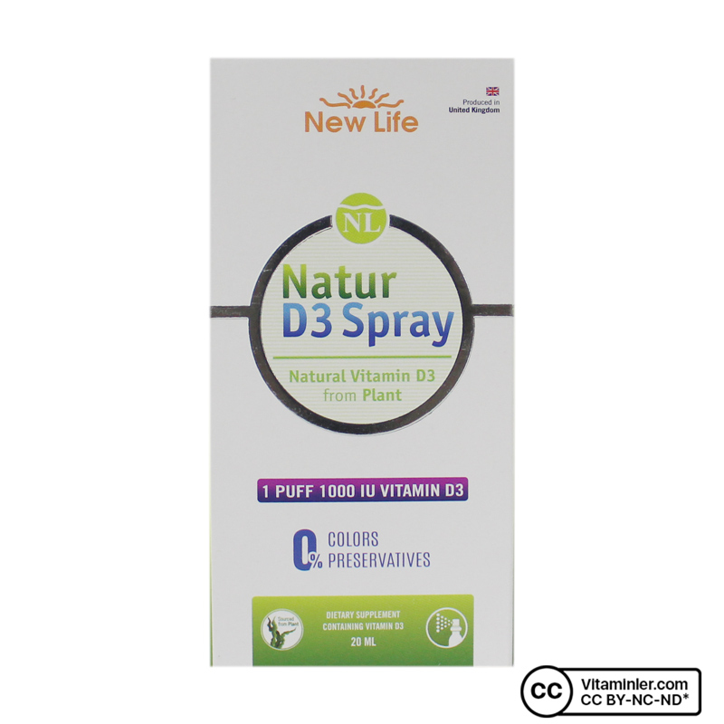 New Life Natur Spray D3 1000 IU 20 mL