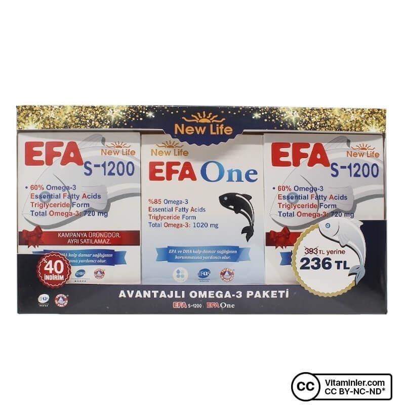 New Life S-1200 + EFA One Avantajlı Omega-3 Paketi