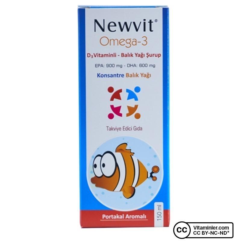 Newvit Omega 3 D Vitaminli Balık Yağı Şurup 150 mL