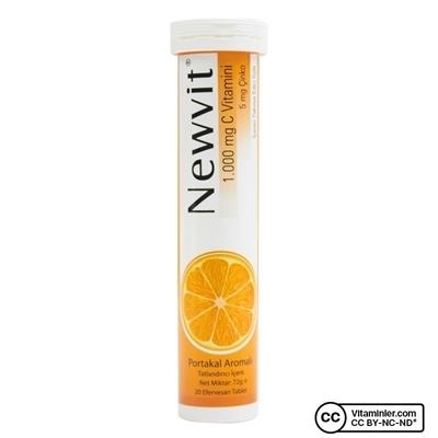 Newvit Vitamin C 1000 Mg + Çinko 20 Efervesan Tablet