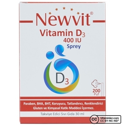 Newvit Vitamin D3 400 IU 30 mL