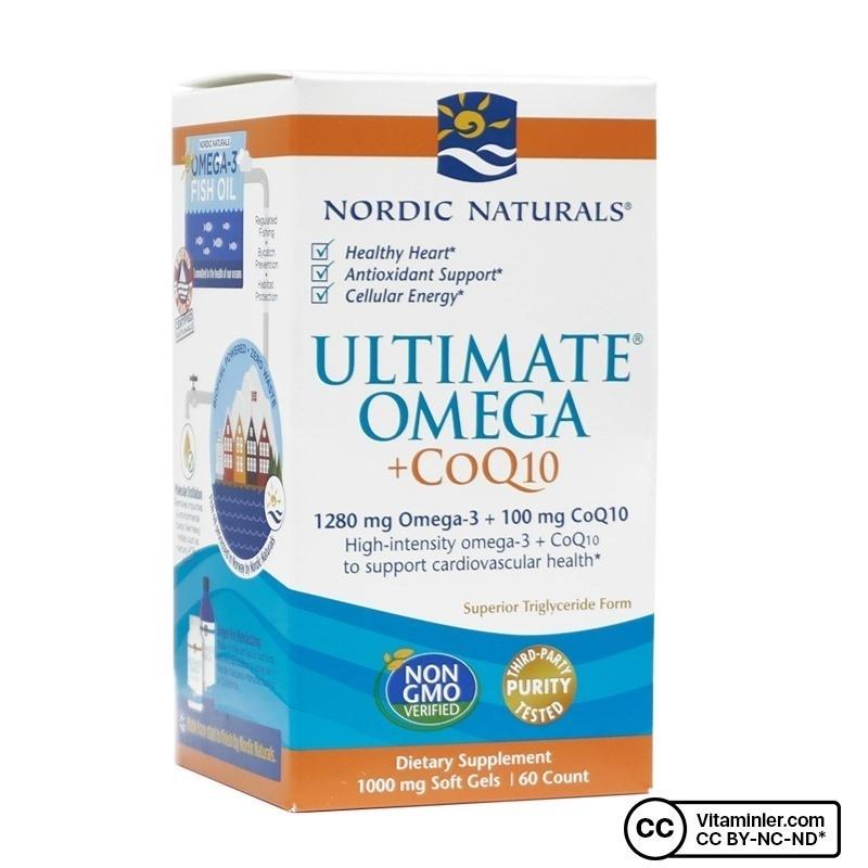 Nordic Naturals Ultimate Omega + CoQ10 60 Kapsül