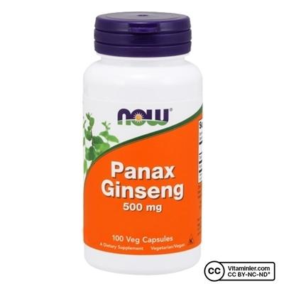 Now Foods Panax Ginseng 500 Mg 100 Kapsül