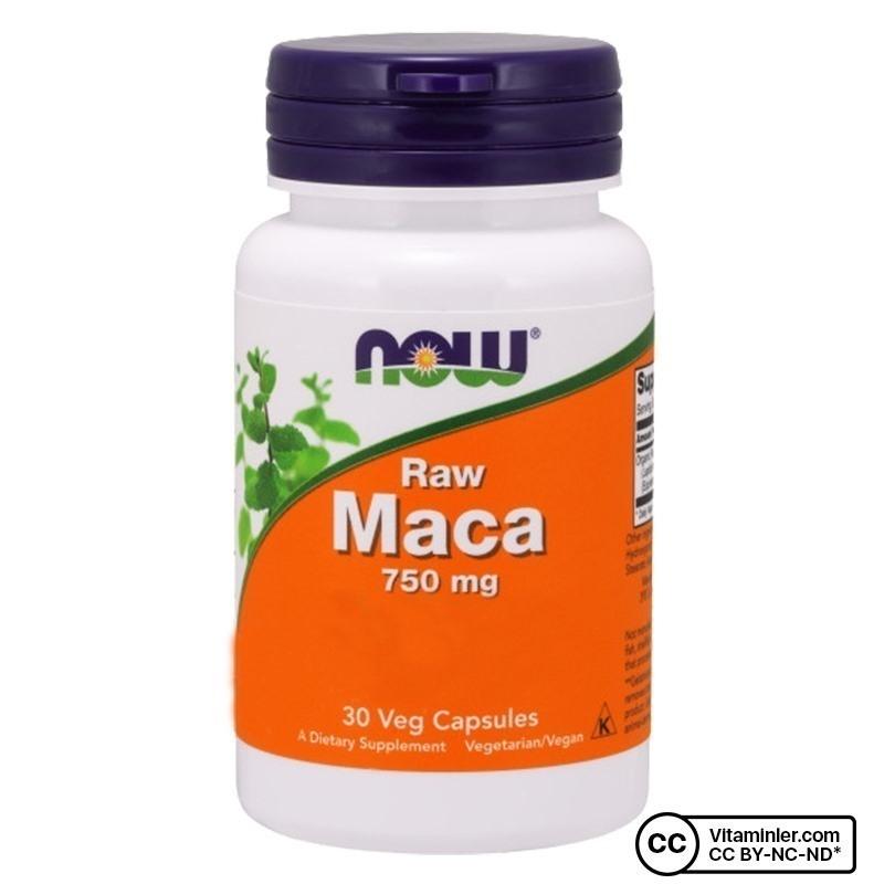 Now Raw Maca 750 Mg 30 Kapsül