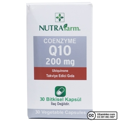 Nutrafarm Coenzyme Q10 200 Mg Ubiquinone 30 Kapsül