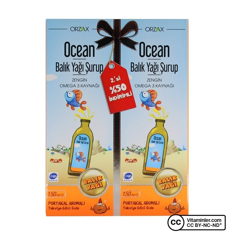 Ocean Balık Yağı Şurup 150 mL 2'li Paket
