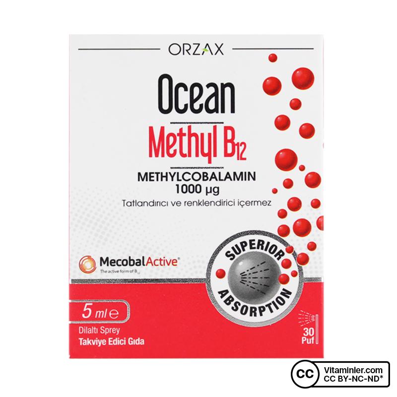 Ocean Methyl B12 1000 Mcg 5 mL Sprey