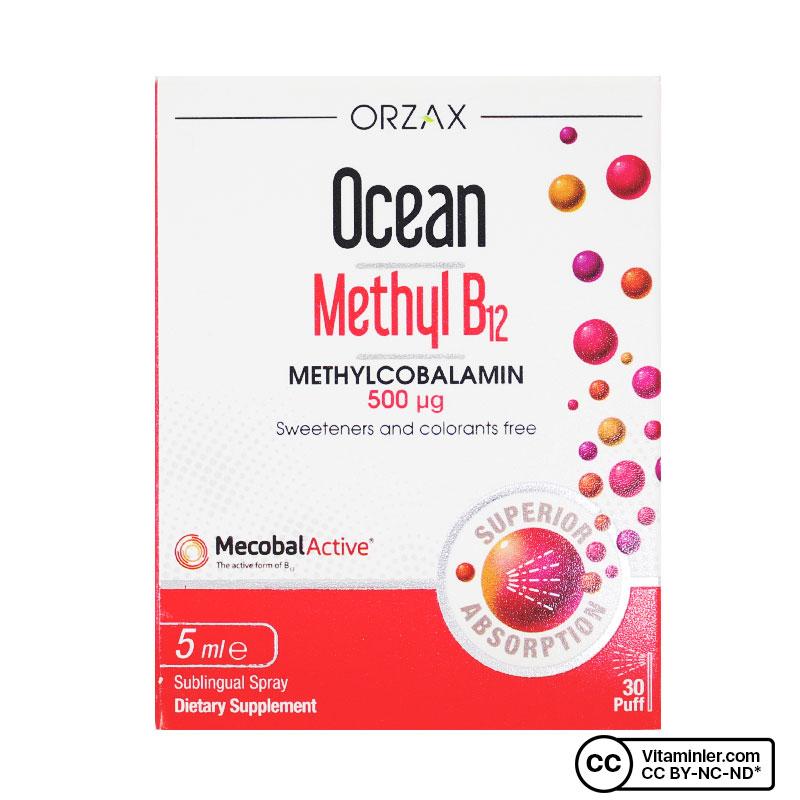 Ocean Methyl B12 500 Mcg 5 mL Sprey