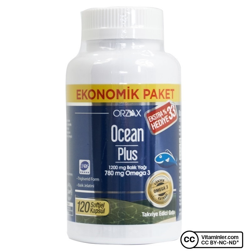 Ocean Plus Omega 3 1200 Mg 120 Kapsul
