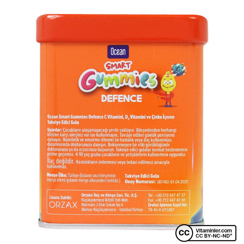 Ocean Smart Gummies Defence 64 Çiğnenebilir Tablet Meyve Sulu