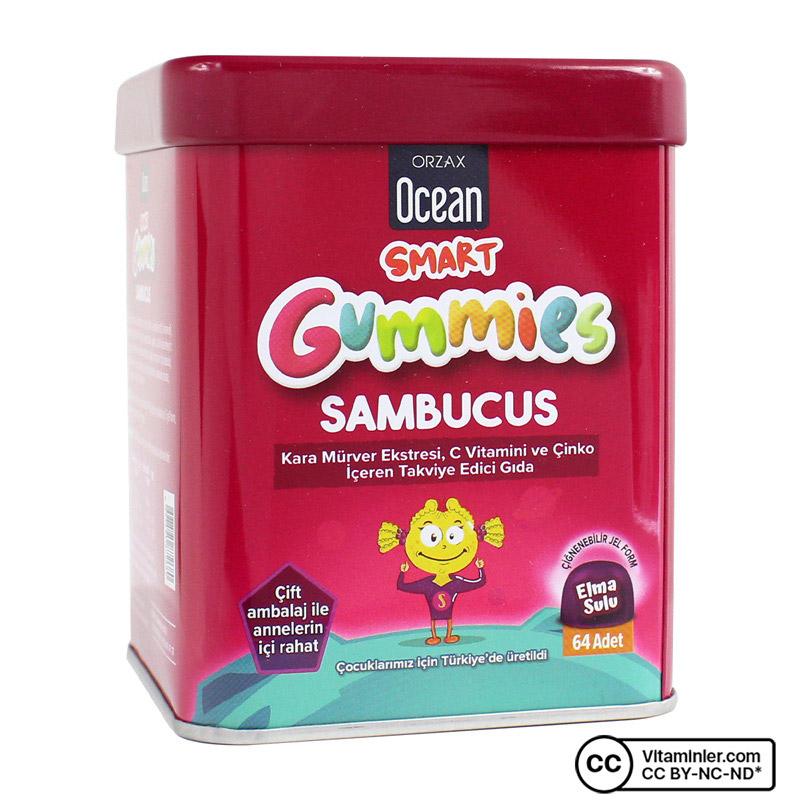 Ocean Smart Gummies Sambucus 64 Çiğnenebilir Form