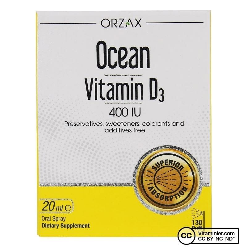Ocean Vitamin D3 400 IU 20 mL