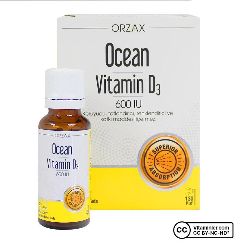 Ocean Vitamin D3 600 IU 20 mL