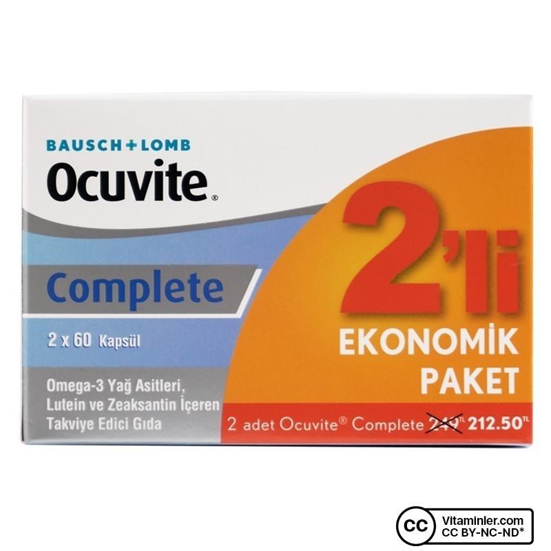 Ocuvite Complete Bausch & Lomb 60 Kapsül İkili Kampanya