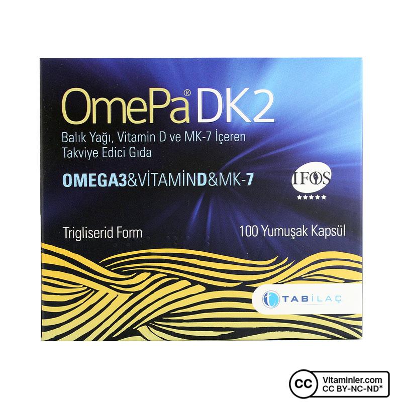 OmePa DK2 Omega 3 Vitamin D MK-7 100 Kapsül