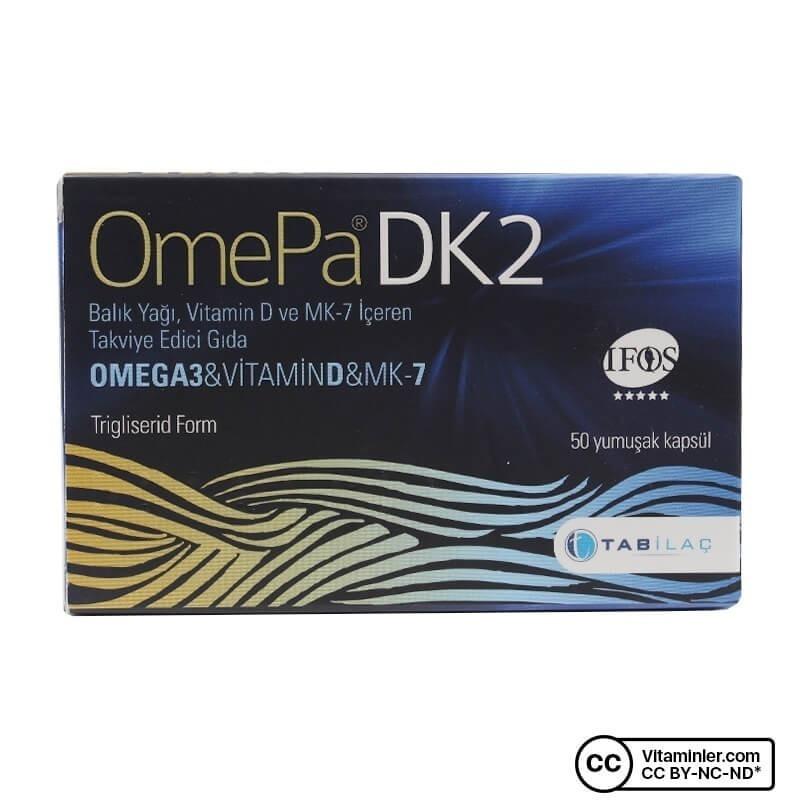 OmePa DK2 Omega 3 Vitamin D MK-7 50 Kapsül