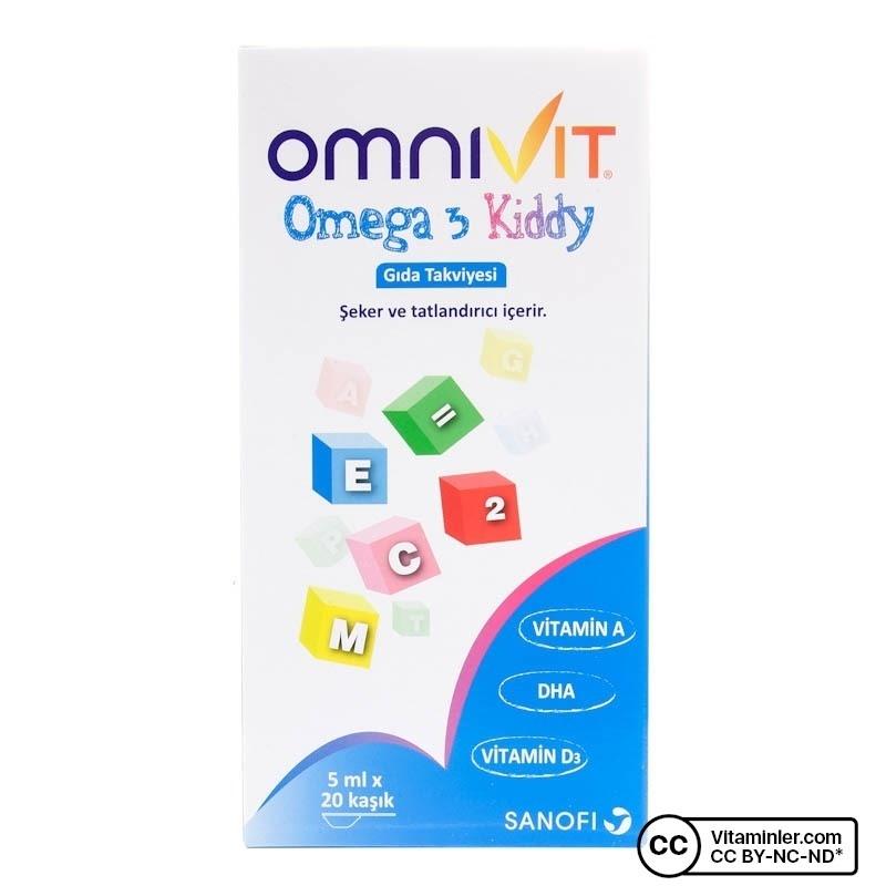 Omnivit Omega 3 Kiddy Şurup 100 mL