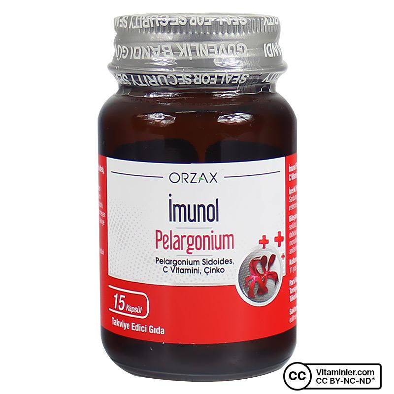 Orzax Imunol Pelargonium 15 Kapsül