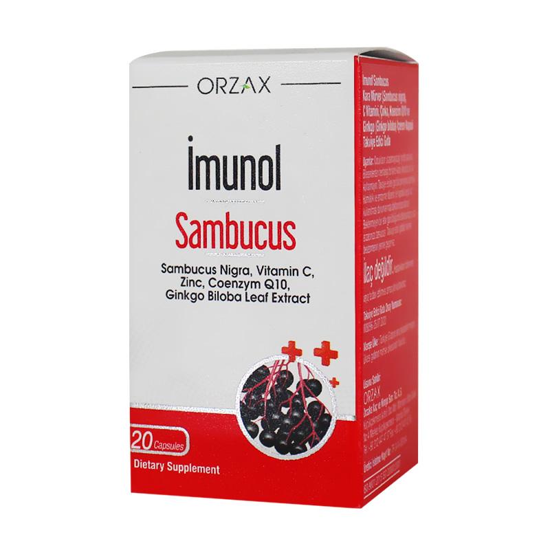 Orzax Imunol Sambucus Nigra 20 Kapsül