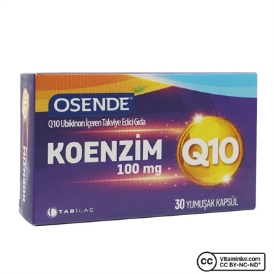 Tab Osende Koenzim Q10 100 Mg 30 Kapsül