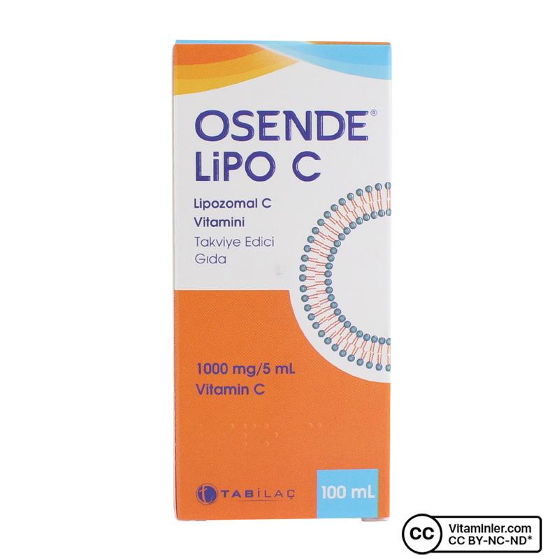 Osende Lipo C Lipozomal C Vitamini 100 mL