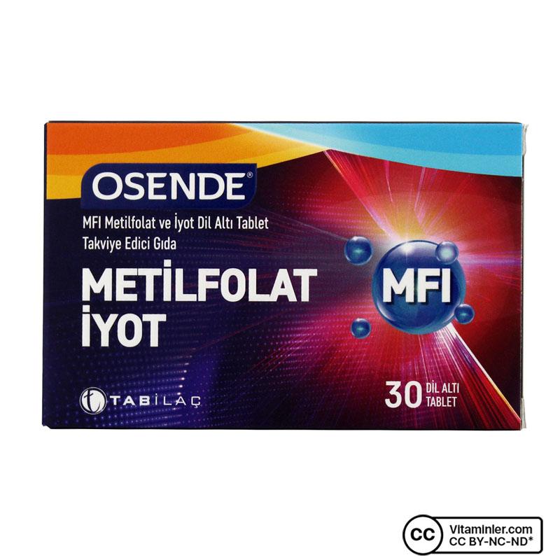 Osende MFİ Metilfolat İyot 30 Dil Altı Tablet
