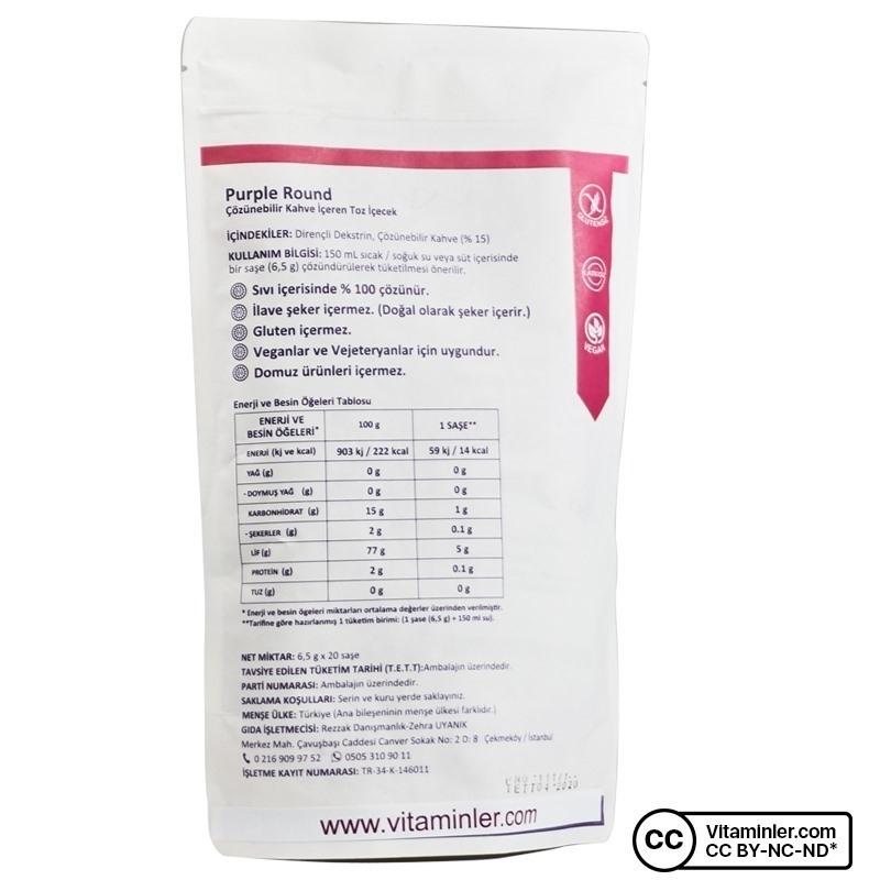 Purple Round Çözünebilir Kahveli Diyet Lifi 20 Saşe