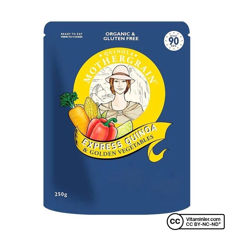 Quinola Mothergrain Organik Pişmiş Sebzeli Kinoa 250 Gr