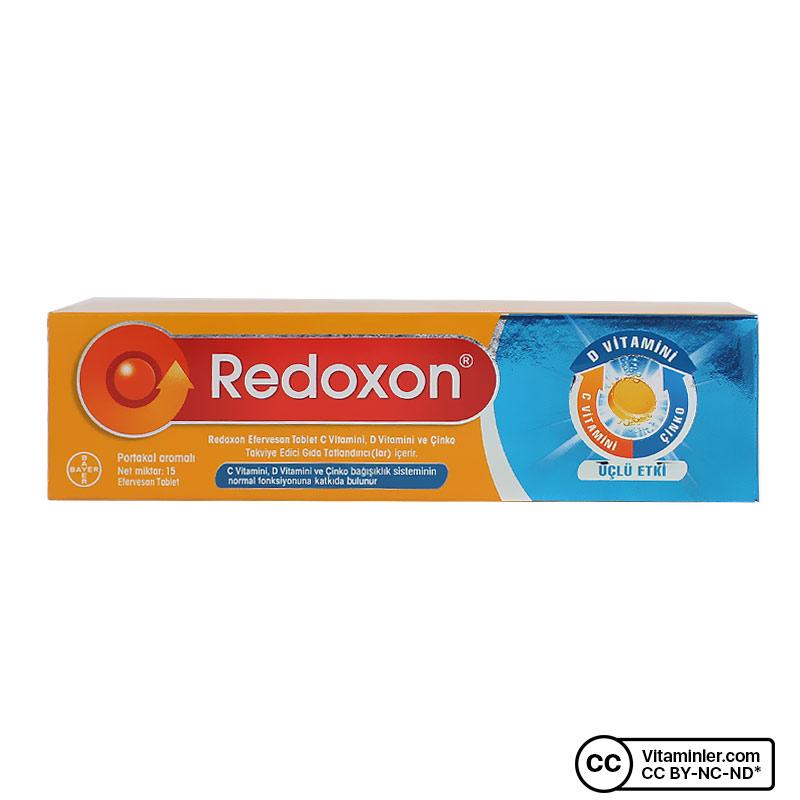 Redoxon 3'lü Etki C, D Vitamini ve Çinko 15 Efervesan Tablet