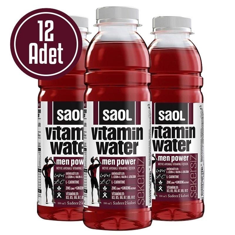 Saol Vitamin Water Men Power 500 mL 12 Adet