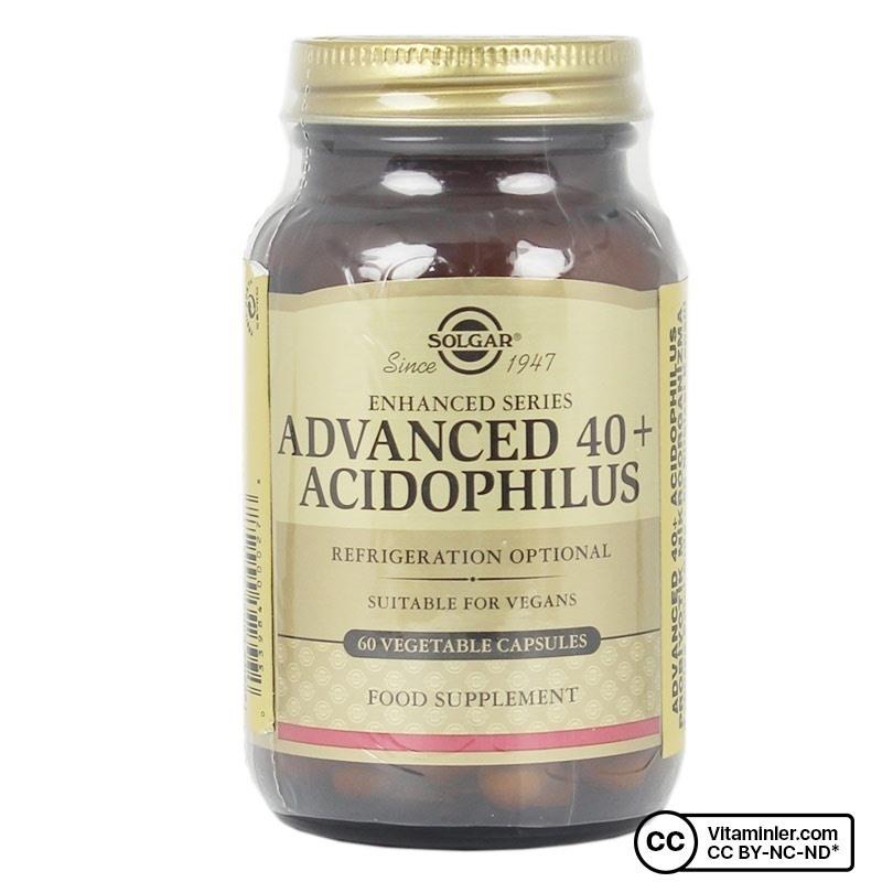 Solgar Advanced 40+ Acidophilus 60 Kapsül