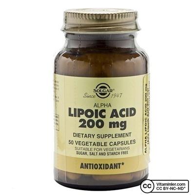 Solgar Alpha Lipoic Acid 200 Mg 50 Kapsül