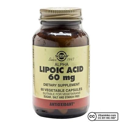 Solgar Alpha Lipoic Acid 60 Mg Kapsül