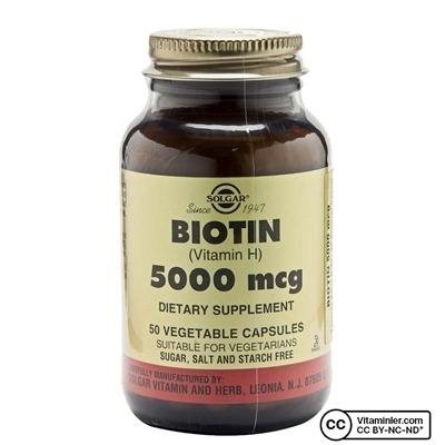 Solgar Biotin 5000 Mcg Kapsül