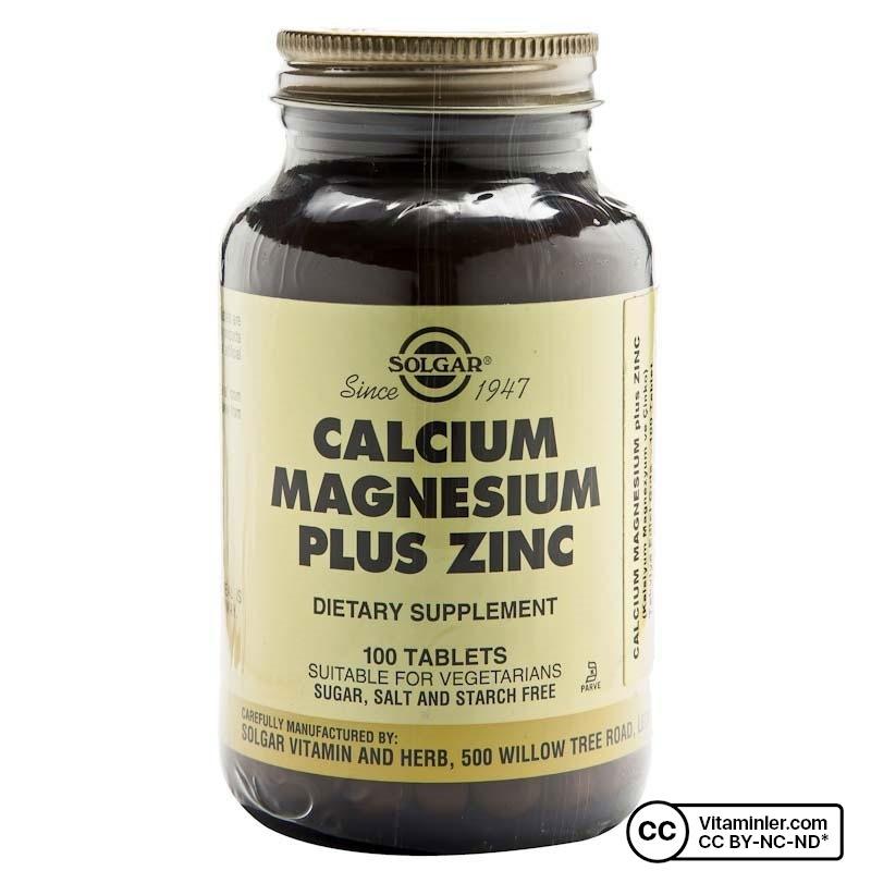Solgar Calcium Magnesium Plus Zinc 100 Tablet