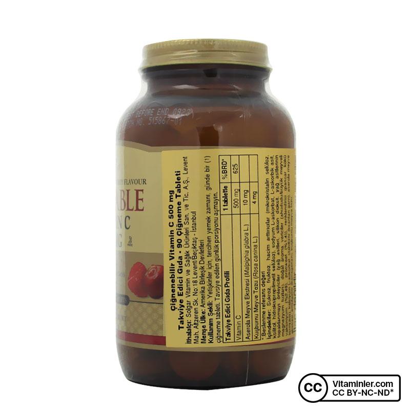 Solgar Chewable Vitamin C 500 Mg 90 Tablet