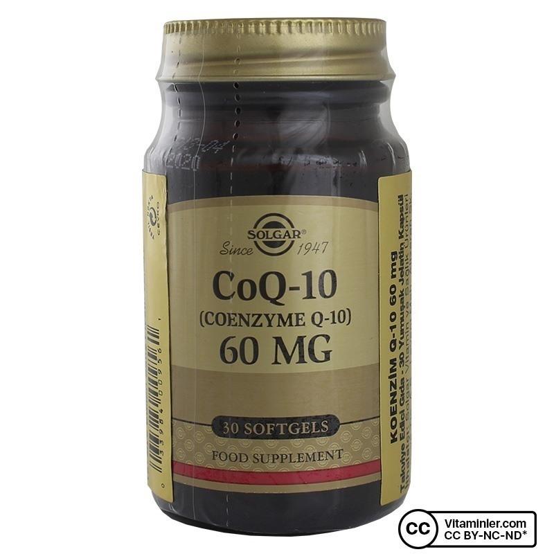 Solgar Coenzyme Q-10 60 Mg 30 Kapsül