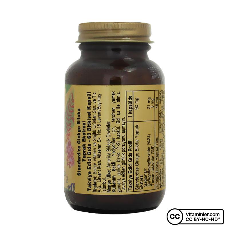 Solgar Ginkgo Biloba Leaf Extract 60 Kapsül