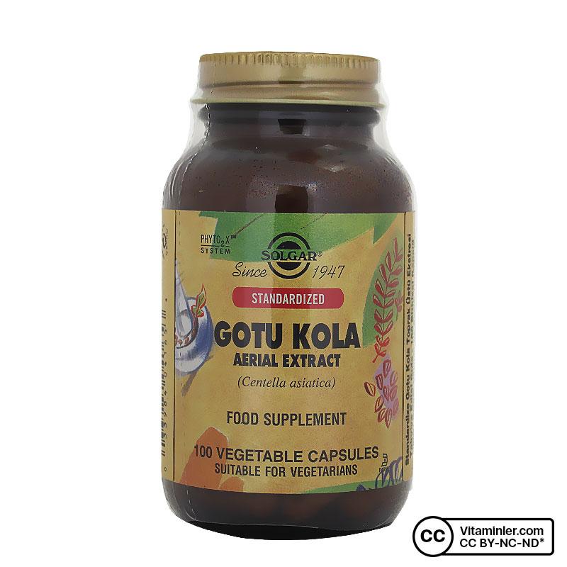 Solgar Gotu Kola Aerial Extract 100 Kapsül