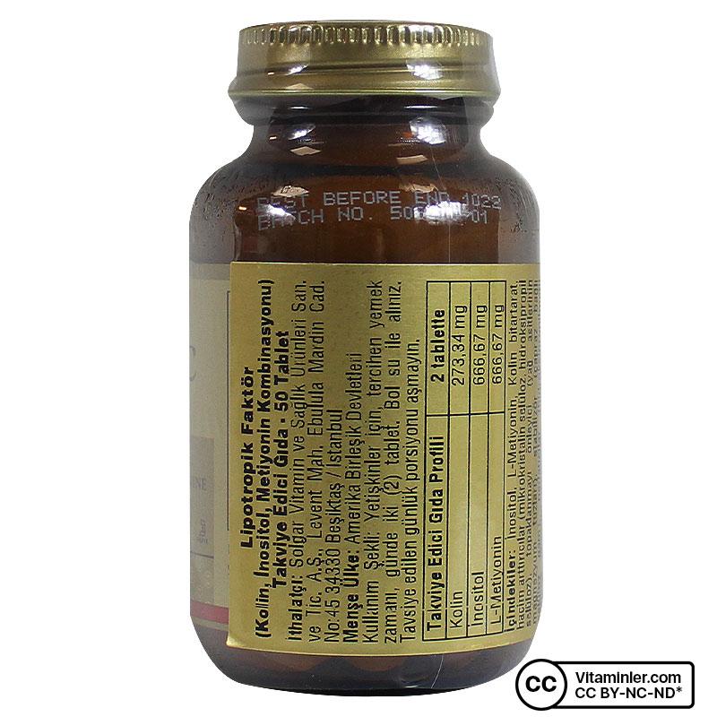 Solgar Lipotropic Factors 50 Tablet