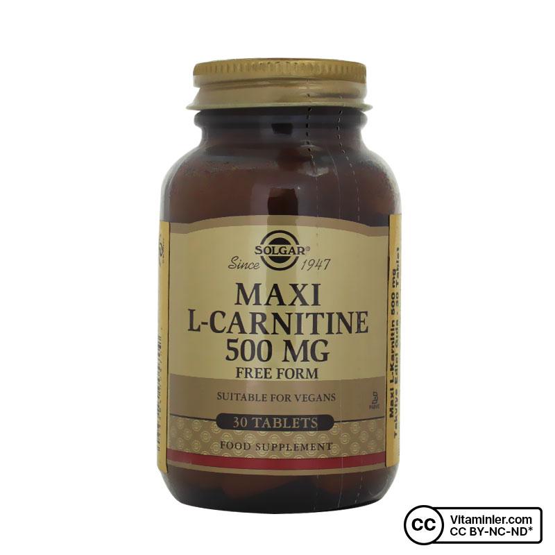 Solgar Maxi L-Carnitine 500 Mg 30 Tablet