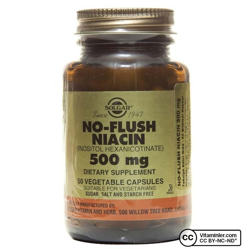 Solgar No Flush Niacin 500 Mg 50 Kapsül