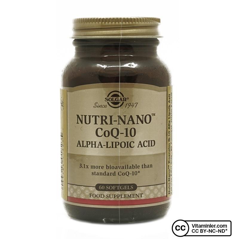 Solgar Nutri-Nano CoQ-10 Alpha Lipoic Acid 60 Kapsül