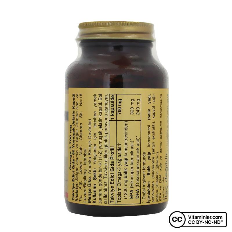 Solgar Omega-3 700 60 Kapsül