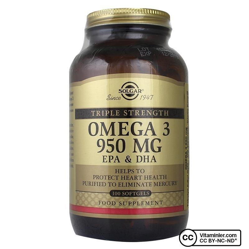 Solgar Omega-3 950 Mg 100 Kapsül