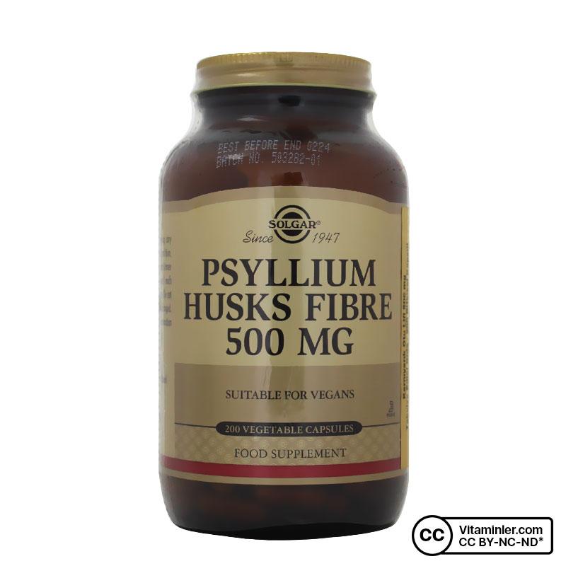 Solgar Psyllium Husks Fibre 500 Mg 200 Kapsül