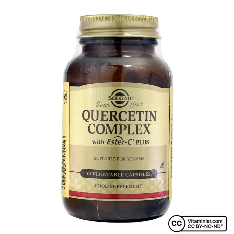 Solgar Quercetin Complex with Ester C Plus 50 Kapsül